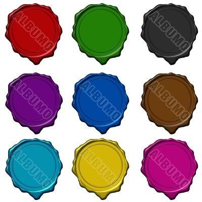 Wax seal colored collection