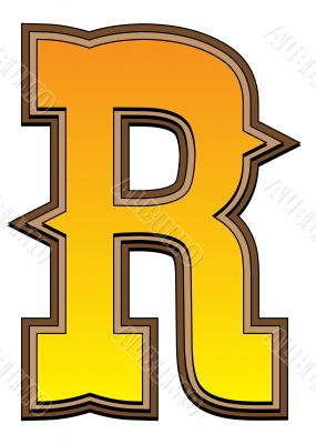 Western alphabet letter - R