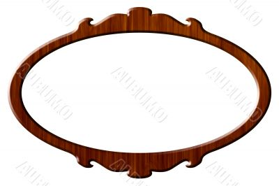 Wood portrait round frame