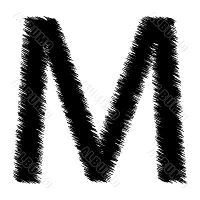 Scribble alphabet letter - M