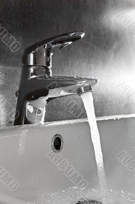 Sink closeup splash backlight