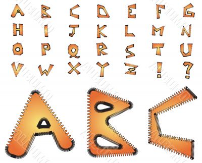 Electric zig zag alphabet