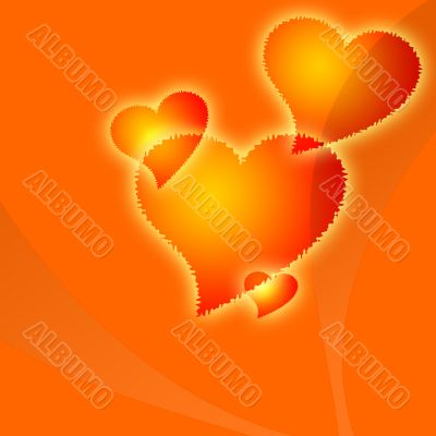 Orange hearts fantasy
