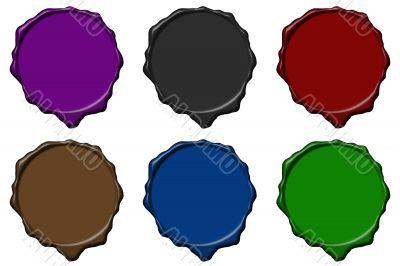 Colored wax empty seals