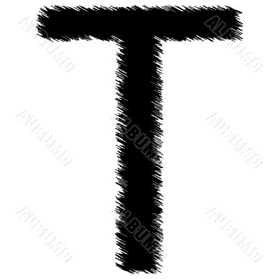 Scribble alphabet letter - T