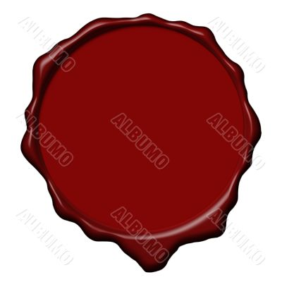 Red wax empty seal