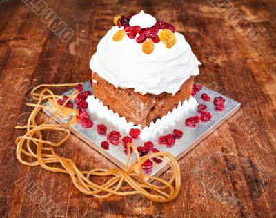 Christmas creamy cake