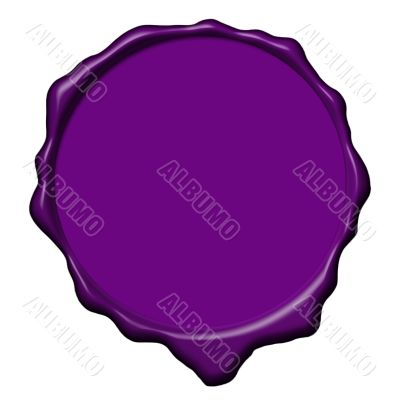 Violet wax empty seal