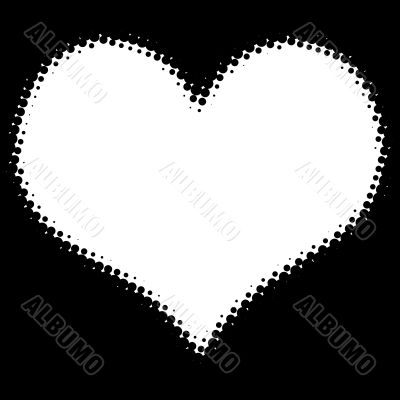 Dots heart frame