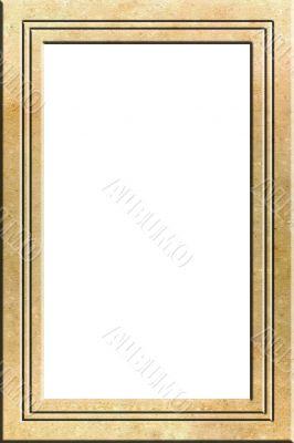 Parchment portrait frame
