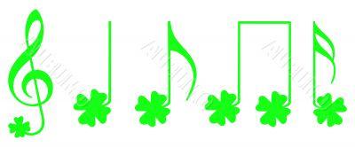 Shamrock musical notes