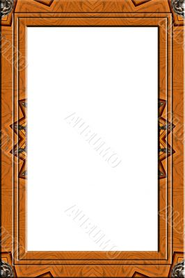 Decorated wood portrait frame