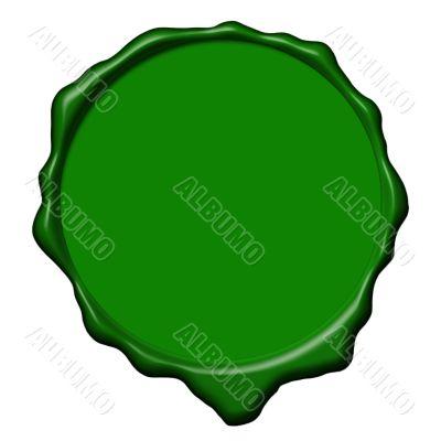 Green wax empty seal