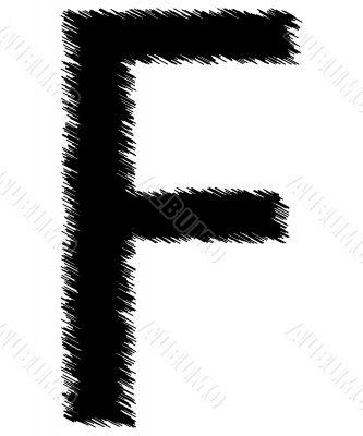 Scribble alphabet letter -