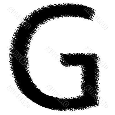 Scribble alphabet letter - G