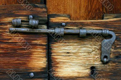 Rusty bolt closeup
