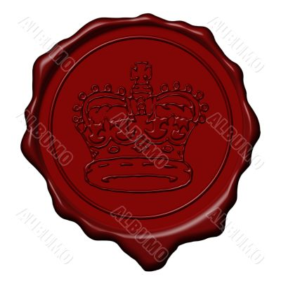 King crown wax seal