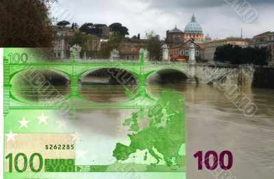 Comparison of the architectural style of bank notes
