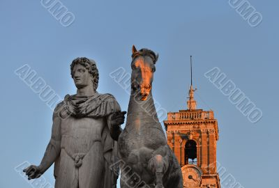 Statue of polluce the Capitol in Rome
