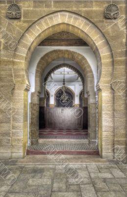Ancient Arabic portal in Casablanca