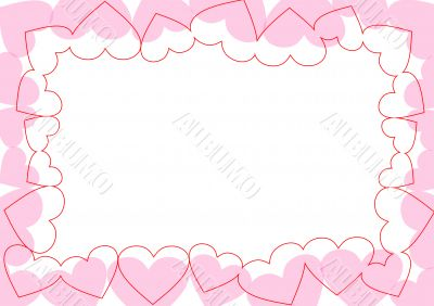 Valentine's Day. Postcard. Background.