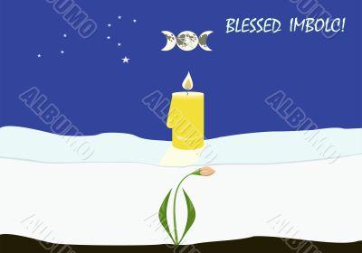 Imbolc, or Candlemas greeting card