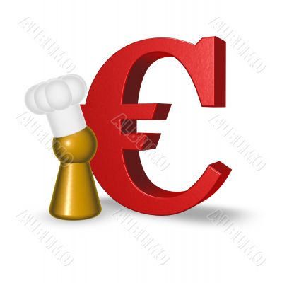 cook token and euro symbol