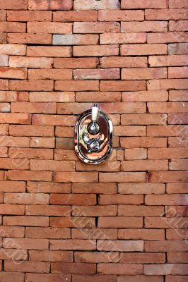 Brick wall shower valve.