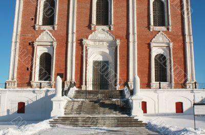 Entrance to the Uspensky Cathedral  of Ryazan Kremlin