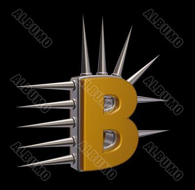 prickles letter b