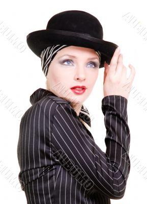 Kseniya.Model. Studio picture. In the light key