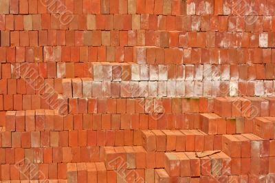 Brick red.