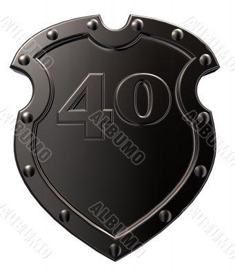 number on metal shield