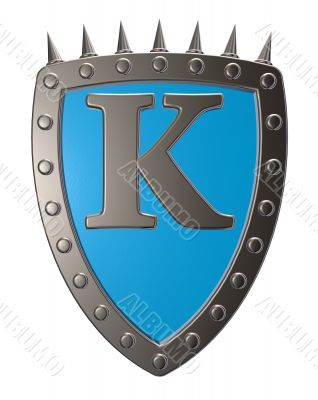 shield with letter k