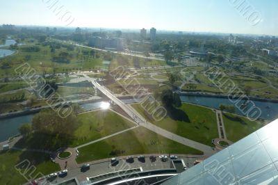 Minsk, city view, horizon