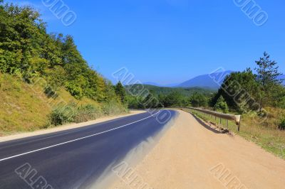 Landscape with road and sky