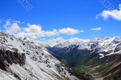 Caucasus mountains Dombai