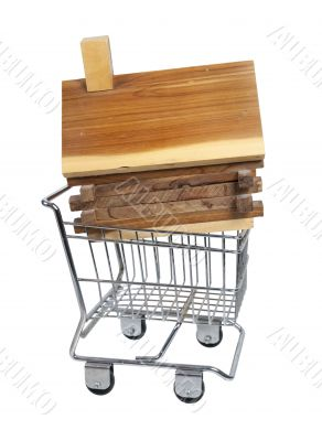Log Cabin in Shopping Cart