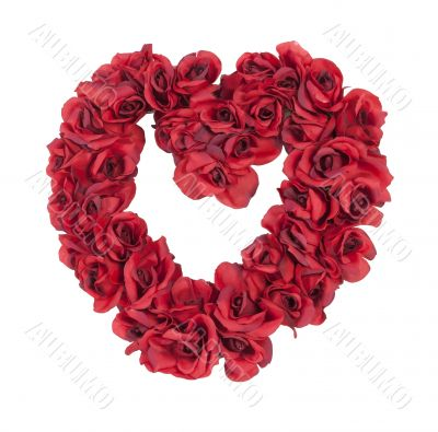 Heart Made of Red Roses