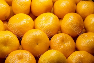 Background of fresh tangerines