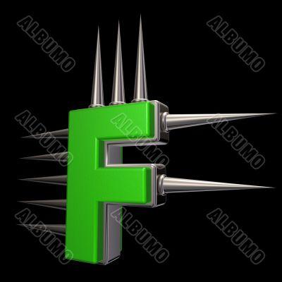 prickles letter f