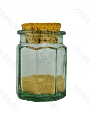 Jar with a brown sugar