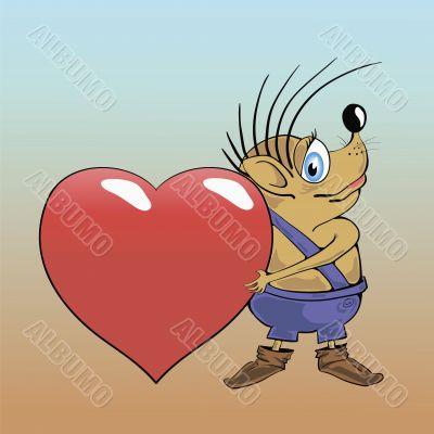 hedgehog and heart