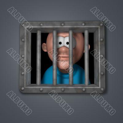 cartoon guy in prison