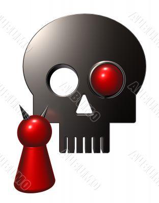 devil and skull