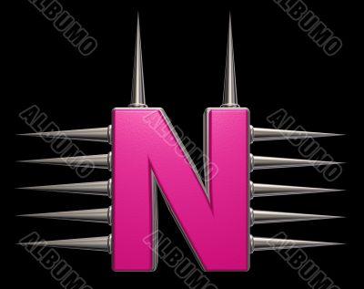 prickles letter n