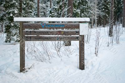 Pointer of  the ski-run.
