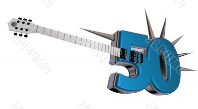 number fifty guitar