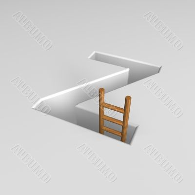 letter z and ladder