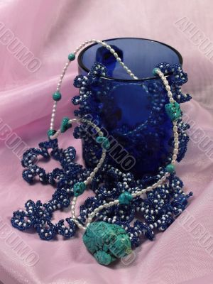 Beads, pearls and turquoise